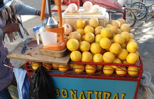 Zumos de frutas itinerante