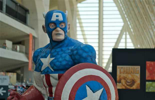 Exposicion sobre superheroes, Valencia, España