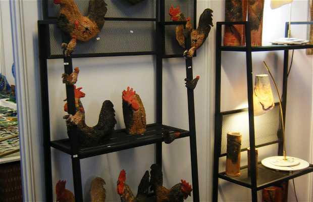 Muestra de Gallos de Pluma y Mosca Artificial