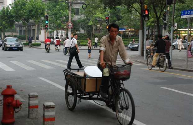 Triciclos en Shanghai