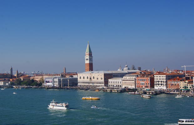 Entrance to Venice by sea