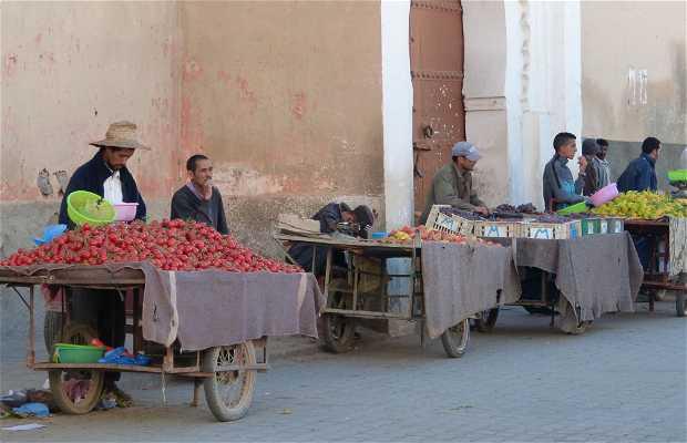 Mercado fruta y verdura