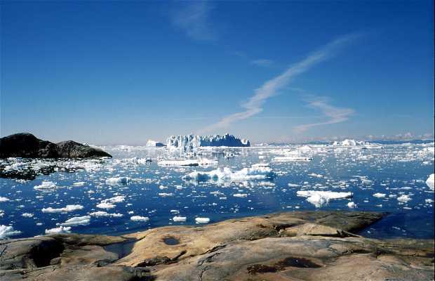 Ilulissat desde el cielo