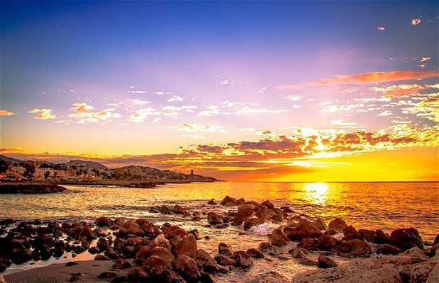 Coucher de soleil à Malaga
