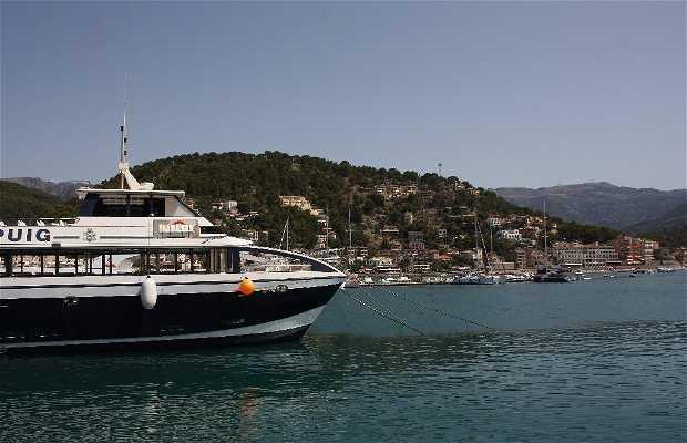 Boat of the Port de Soller to Sa Calobra