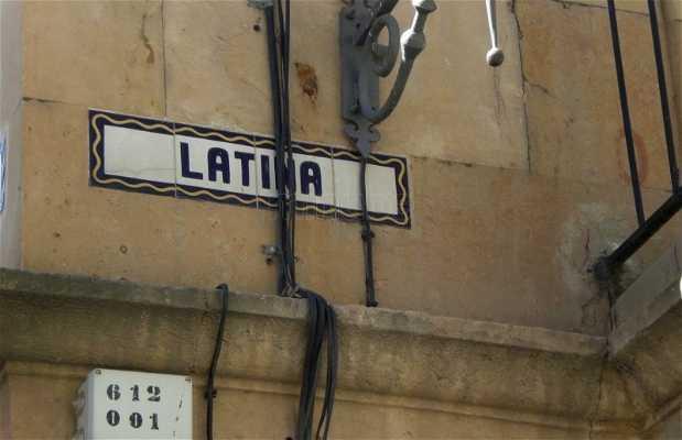 Calle de Libreros e calle de la Latina a Salamanca