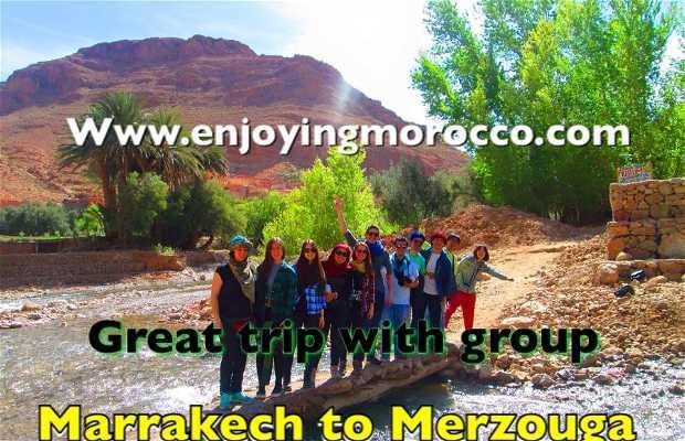 Marrakech to Mezouga desert