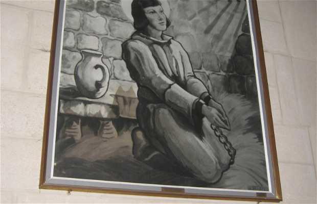 Le tableau « Jeanne aux fers »