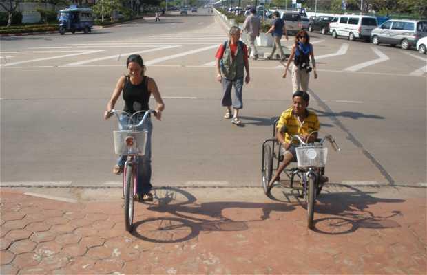 Vientián en bicicleta