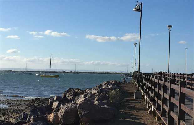 Muelle para pescar en el malecon