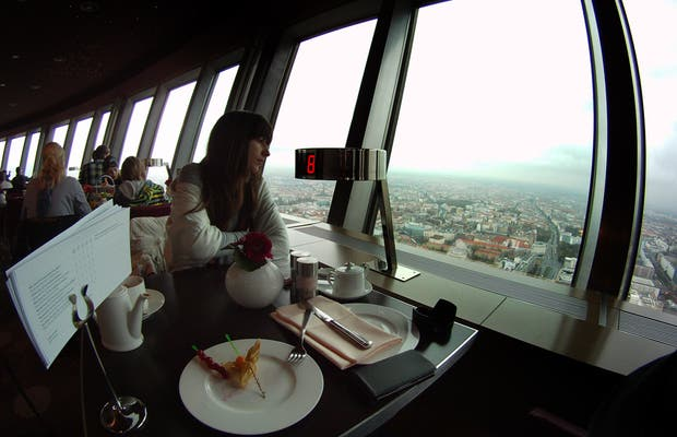Breakfast from the TV tower in Berlin