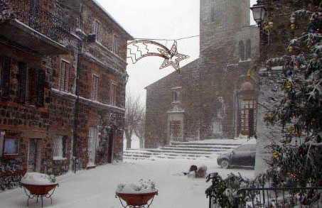 First Snowfall in Radicofani