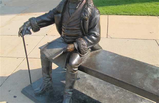 Sculpture of President Martin Van Buren