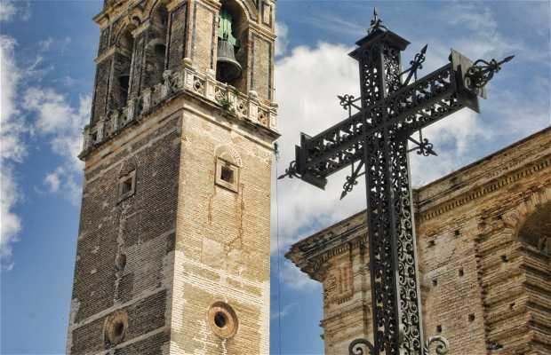 Tower of the older Church of Santacruz