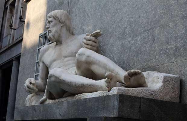 Po y Dora estatuas turinesas
