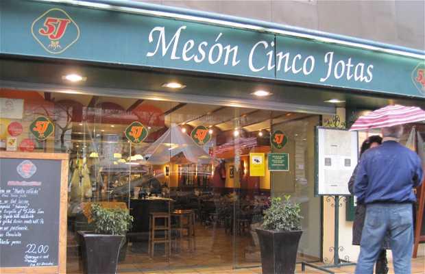 Restaurant Mesón Cinco Jotas (Rambla de Cataluña)