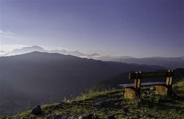 Le Mont Blanc vu du col des Aravis