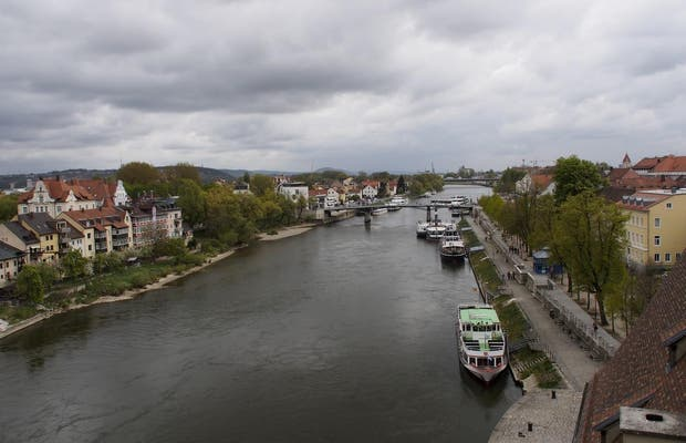 Old town of Regensburg and Stadtamhof