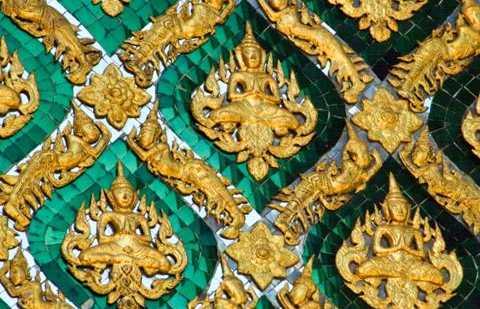 Detalhes arquitetônicos do Grand Palace