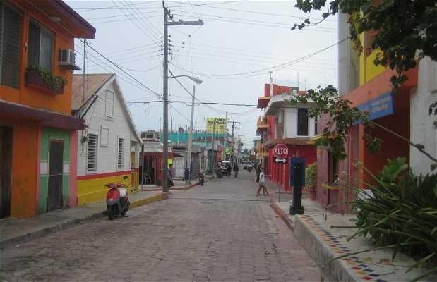 Le village de l'île Mujeres