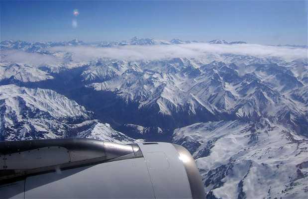 Vista della Cordigliera delle Ande dall\'aereo