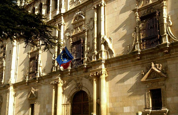 Mapa de la fachada de la Universidad de Alcalá