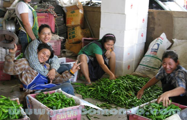 Market of fruit and vegetables Chakpet