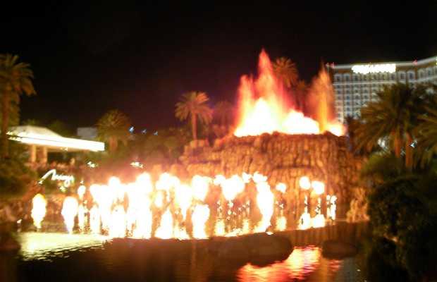 Spettacolo del vulcano al Mirage