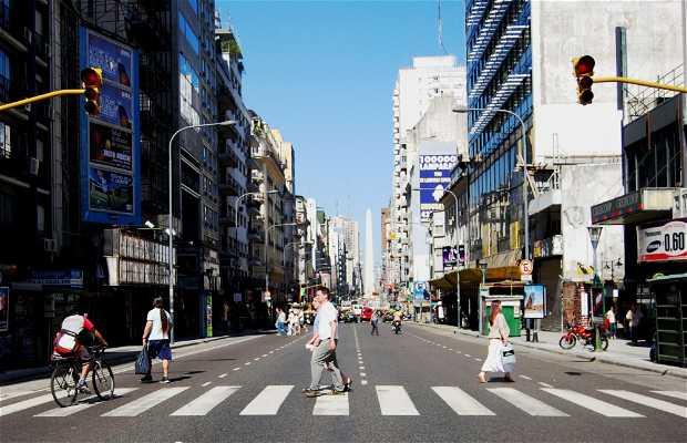 Avenida Corrientes a Buenos Aires