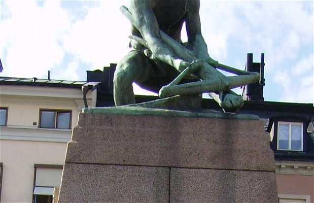 Statua Bagspannaren a Stoccolma