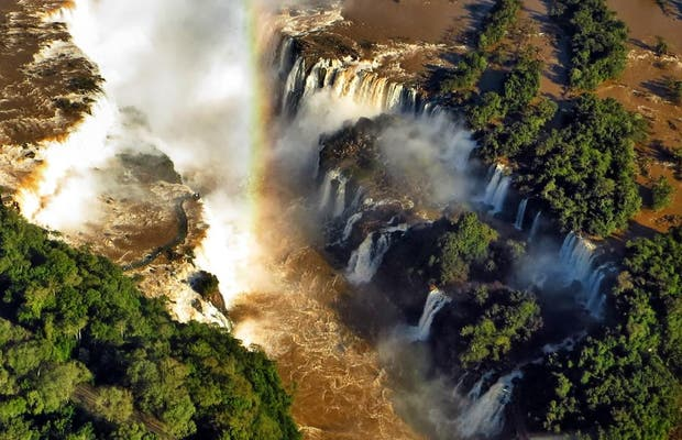 Survol en hélicoptère des Chutes d'Iguazu