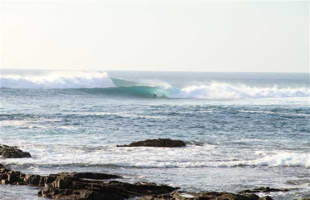 Surf en el puerto antiguo de El Cotillo