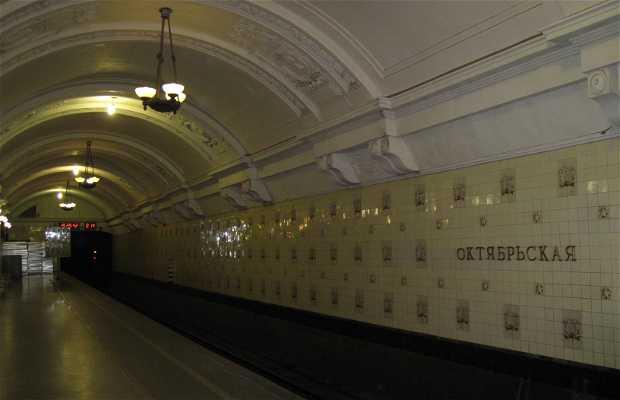 Oktyabrskaya metro station