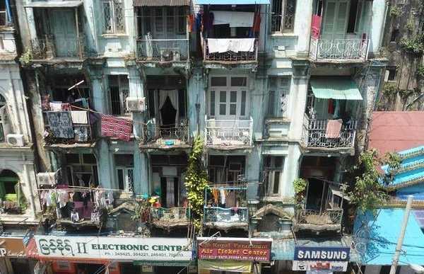 Les maisons coloniales de Rangoon