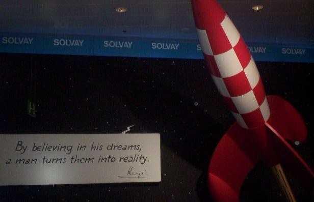 Homenaje a Hergé en el aeropuerto