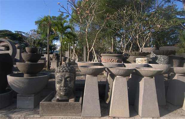 Esculturas de piedra volcánica