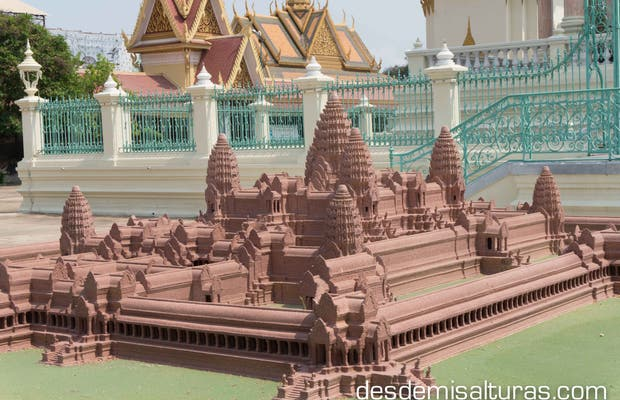 Maqueta de Angkor wat