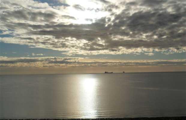 Amanecer en la playa del Golfo Nuevo