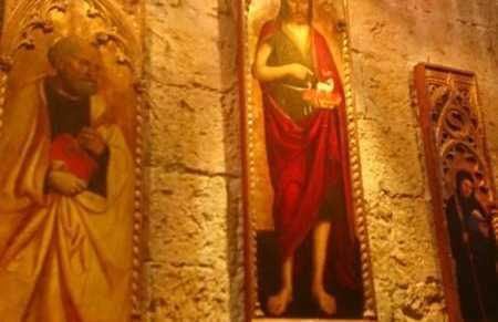 Les peintures christiques du réfectoire des moines