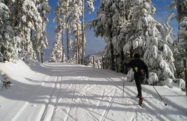 Esquí de fondo en el Centro de Esquí Nórdico de Navafria