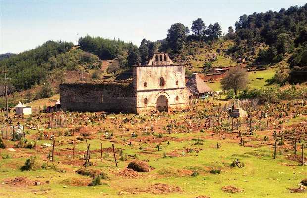 Antigua iglesia y cementerio chamula