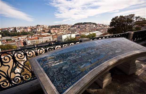 Belvedere di San Pedro a Lisbona