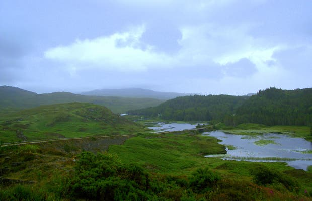 From Lairg to Scourie: landscape between Lakes