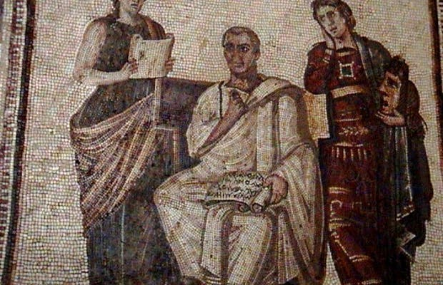 Virgil and the Muses Mosaic