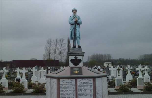 Memorial a las victimas de guerra en el cementerio