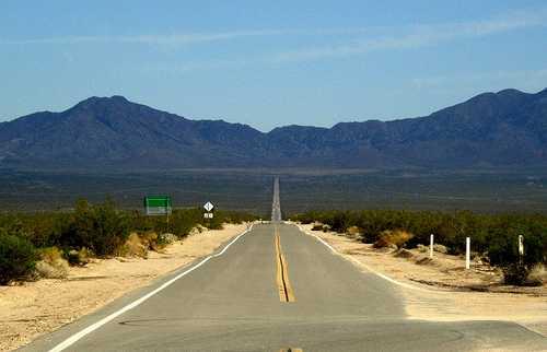 Conduire dans le désert