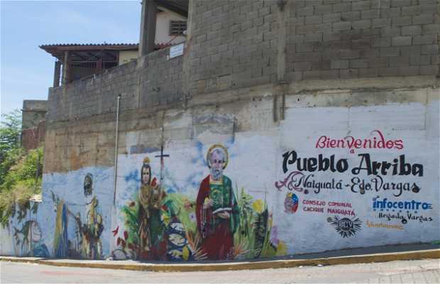 Mural Bienvenidos a Pueblo Arriba