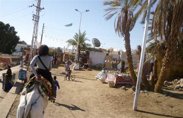 Paseo en camello por un poblado Nubio