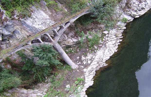 Nalón River Passing through Fuso de la Reina