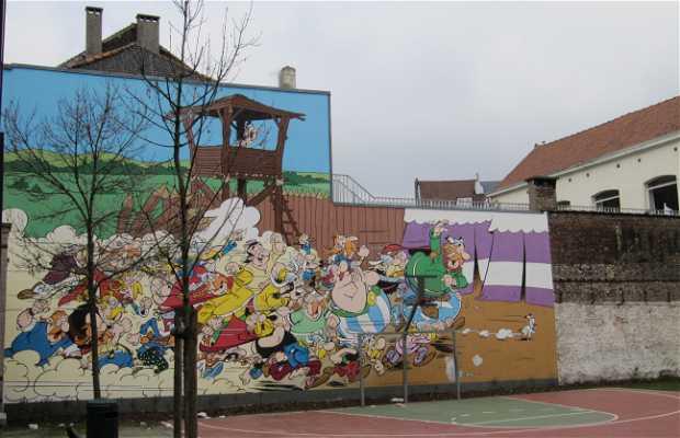 Murales Astérix et Obélix - Goscinny & Uderzo